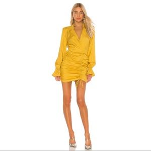 REVOLVE L'Academie Maxi Dress in Mustard Yellow S